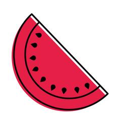 fruit juicy watermelon harvest food vector image