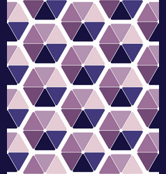 seamless pattern design with abstract hexagons vector image