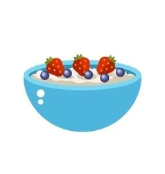 Semolina porridge vector