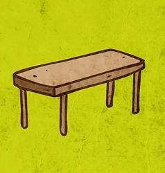 Table Cartoon vector image