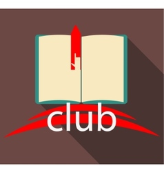 Club book on brown background vector image