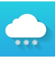 Day cloud and snow flakes isolated on blue vector