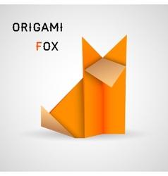 Fox origami vector image
