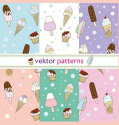 patterns ice cream vector image
