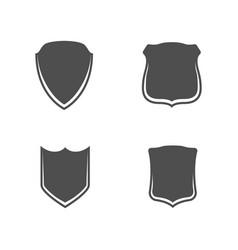 shields banner templates set vector image