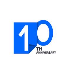 10 th anniversary celebration your company vector