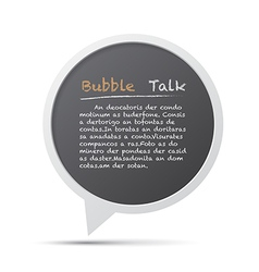 3D bubble talk frame Design element EPS10 vector image