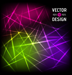 abstract background of color laser beams vector image