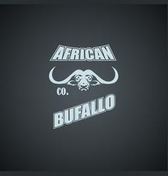 african bufallo logo template vector image
