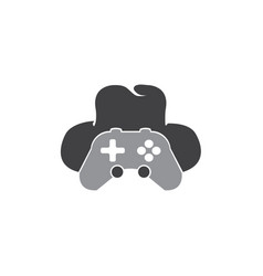 Analog and hat gamer console spy symbol logo vector
