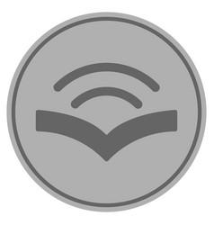 Audiobook silver coin vector