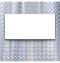 Banner on metal texture background vector image