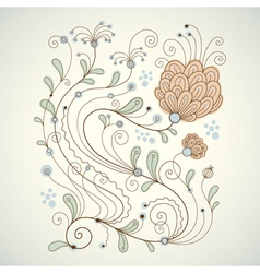 beauty floral vector image