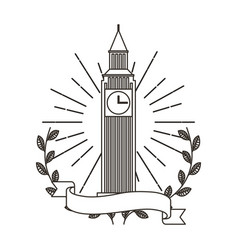 big ben monument icon vector image
