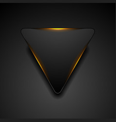 black triangle with fiery orange light abstract vector image