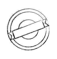 Blank label stamp vector