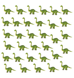Brontosaurus dinosaur cartoon background vector