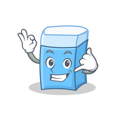 Call me eraser character mascot style vector