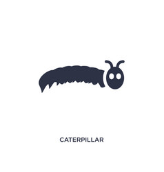 Caterpillar icon on white background simple vector