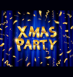 christmas party invitation template poster vector image