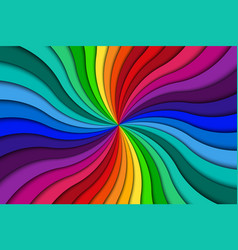 color spiral background bright colorful swirling vector image