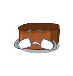 Crying brownies mascot cartoon style vector