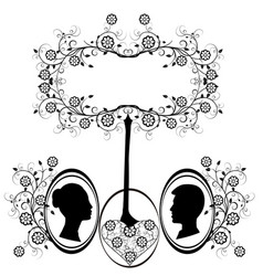 Design element wedding heart flourishes 2 vector