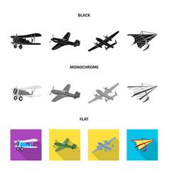 design of plane and transport logo set of vector image