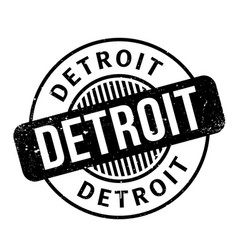 detroit rubber stamp vector image