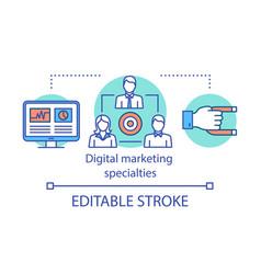 Digital marketing specialties concept icon vector