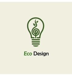 Eco energy symbolic sprout plant spiral vector
