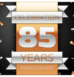 Eighty five years anniversary celebration golden vector