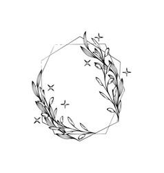 Floral wreaths frames bouquets vector
