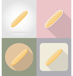 Food objects flat icons 12 vector