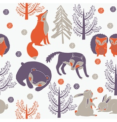 foxs and trees vector image