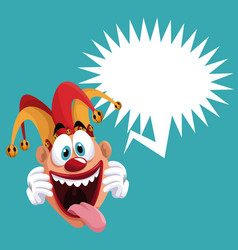 Funny jester bubble speech vector