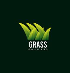 Grass logo icon template design vector