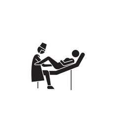 Gynecologist visit black concept icon vector