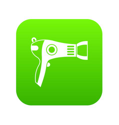 hairdryer icon digital green vector image