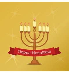 Hanukkah Typography Design vector