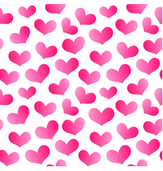 hearts seamless pattern 3 vector image