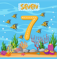 how to write number seven vector image
