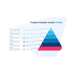 infographic template in shape of vector image