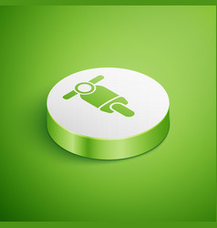 Isometric scooter icon isolated on green vector