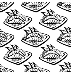 Japan food seamless pattern vector image
