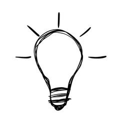 Light bulb lamp vector