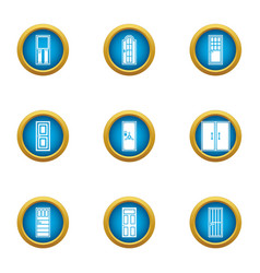 Lobby icons set flat style vector