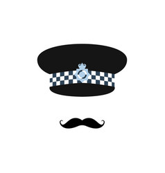 london police officer on white background avatar vector image