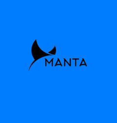 manta ray logo vector image