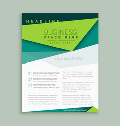 Modern green flyer design leaflet annual report vector